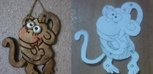 Панно обезьянка из соленого теста своими руками