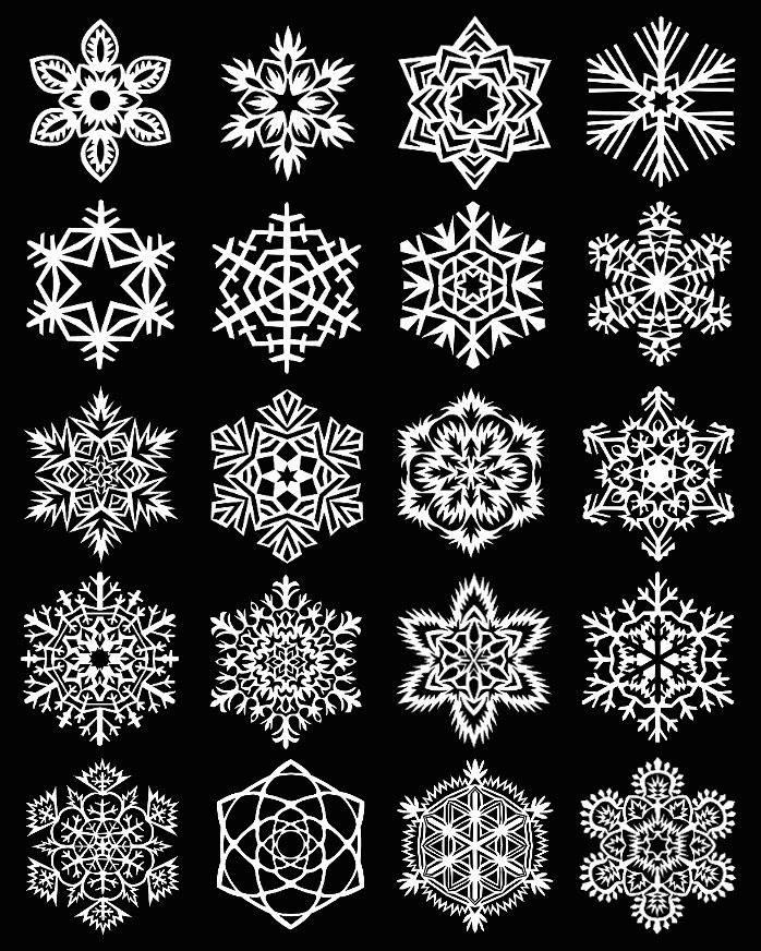 Бумажные новогодние украшения своими руками снежинки