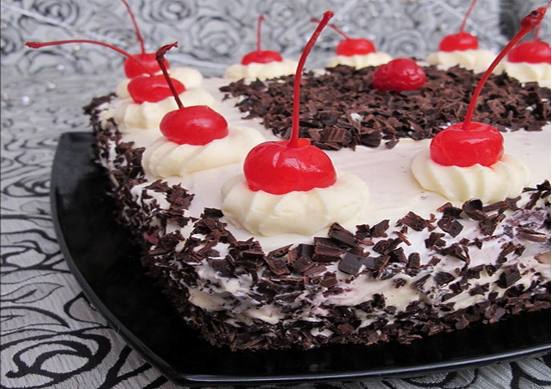 Торт чёрный принц с пошаговым с вишней