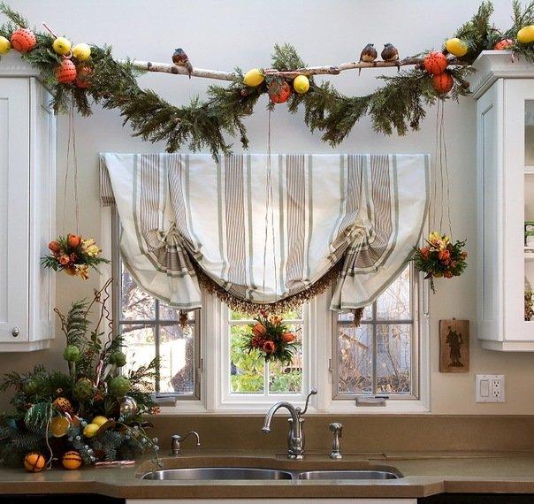 Как украсить кухню к новому году своими