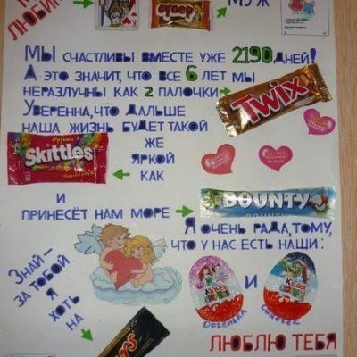 Плакат с шоколадками своими руками