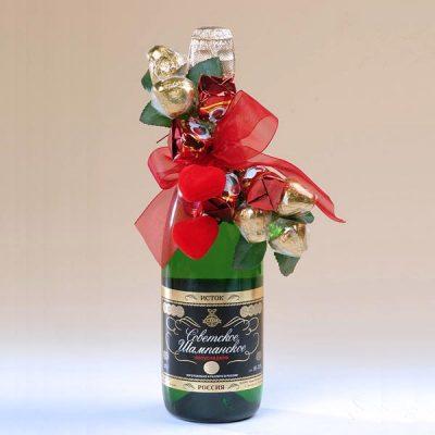 Как красиво украсить шампанское на новый год своими руками