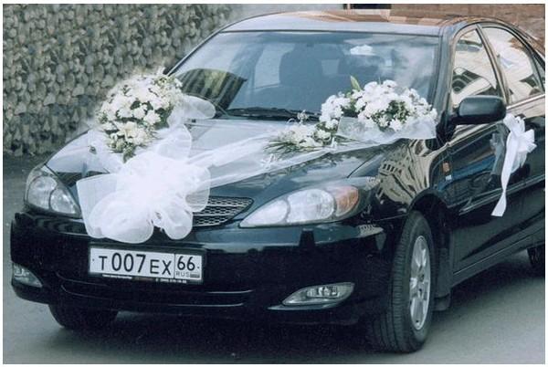 Как сделать бант из органзы на свадебную машину своими руками фото 660
