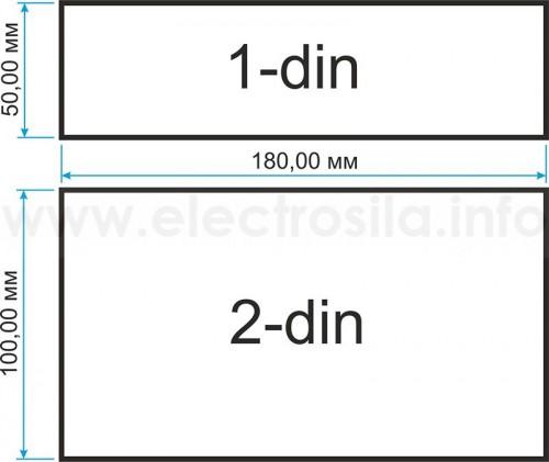 Размеры магнитол