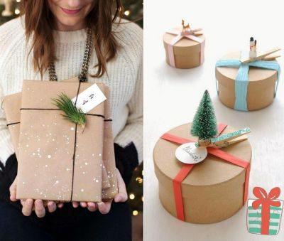 Как оформить упаковку новогоднего подарка