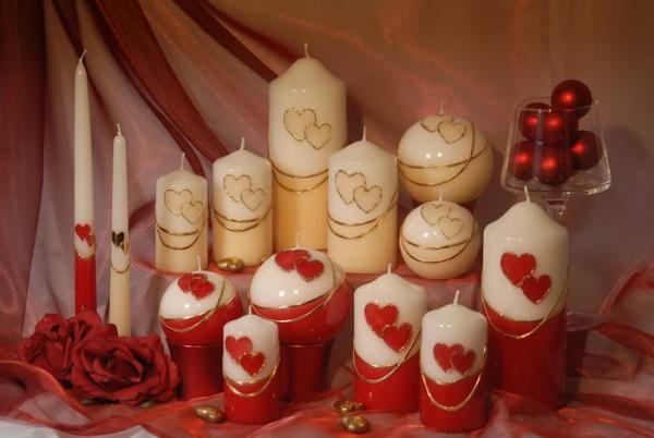 Свечи на 14 февраля своими руками