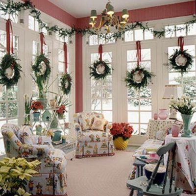 красивое оформление квартиры на новый год