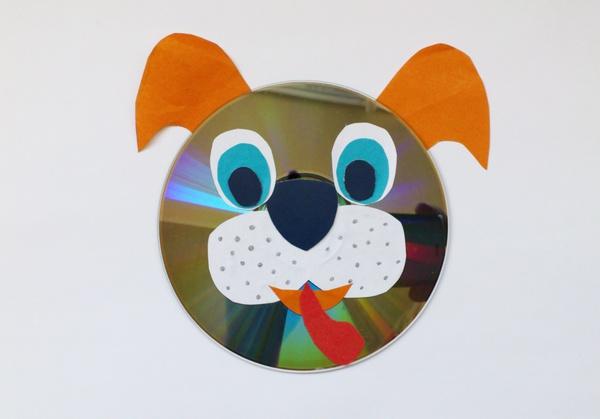 Простые поделки из дисков