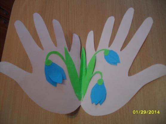 Поделка из ладошек своими руками
