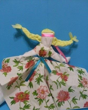 Платье из своими руками из салфеток