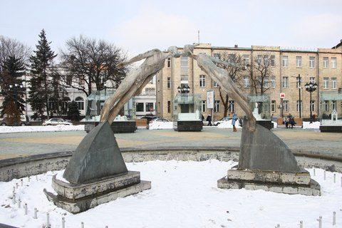 Памятник влюбленных в Харькове