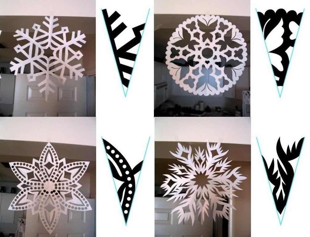 Круглые снежинки из бумаги своими руками 117