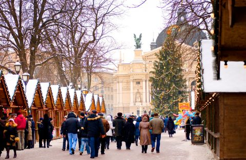 ярмарка во Львове