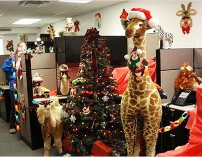 Новогодние поделки для офиса