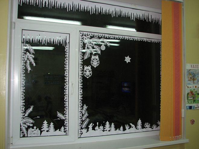 Как украсить окна на новый год 2015
