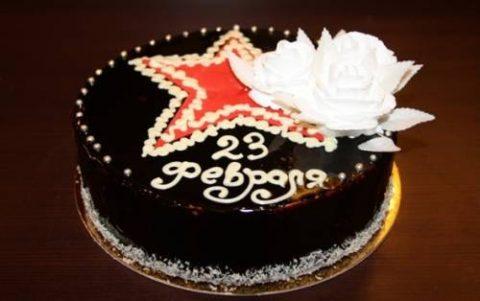 Праздничный торт « С 23 Февраля»
