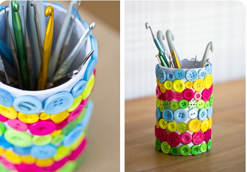Как сделать своими руками стаканчик для карандашей