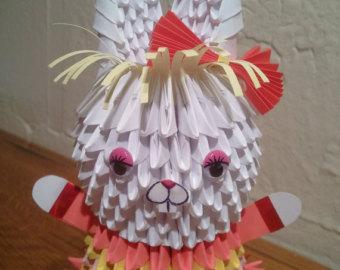 зайчик оригами
