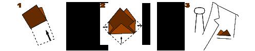 Как сложить нагрудный платок способ 2