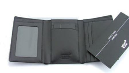 Кожаный мужской кошелек в два изгиба фото
