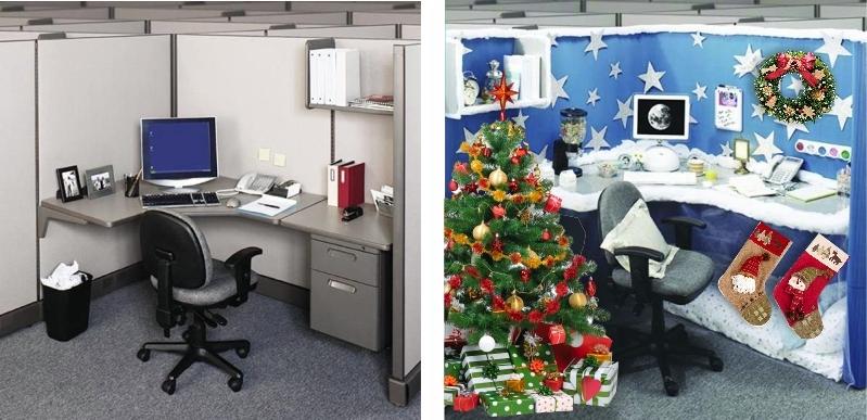 Как украсить рабочий кабинет на новый год своими руками фото