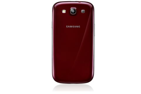 Samsung GALAXY S 3 red вид сзади фото