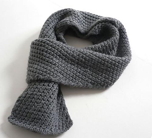 Мужской шарф своими руками