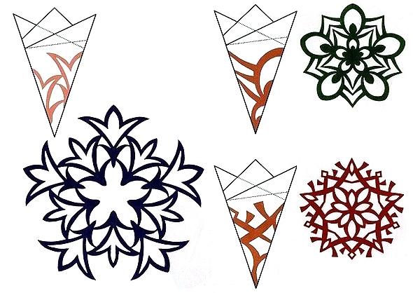 Схема объемной снежинки
