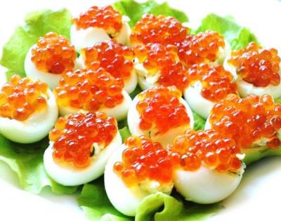 Яйца с икрой фото