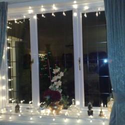 Украшаем красиво окна на Новый год 2017