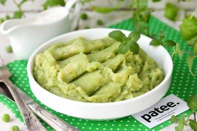 Зеленое картофельное пюре с фрикадельками