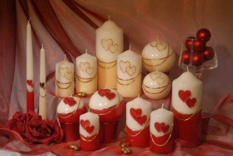 свечи на 14 февраля