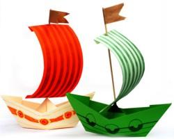 6 идей, как легко и просто сделать кораблик из бумаги