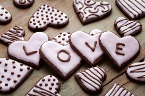 печенья-сердечки