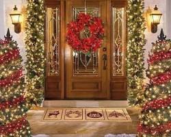 Как украсить двери к Новому году 2020 своими руками