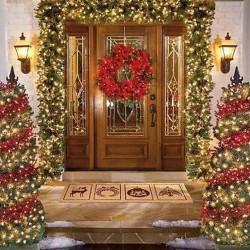 20 фото идей того, как украсить двери к Новому году 2018
