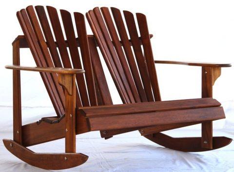 кресло-качалка для сада и огорода на двоих