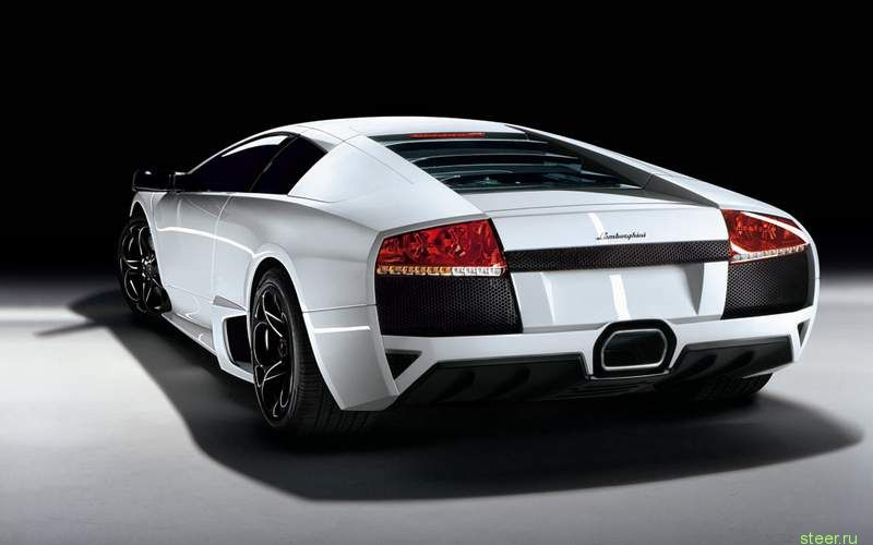 Lamborghini Murselago white rear view photo