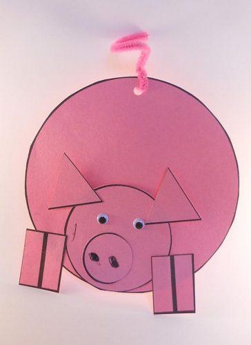 Открытка «Свинка»