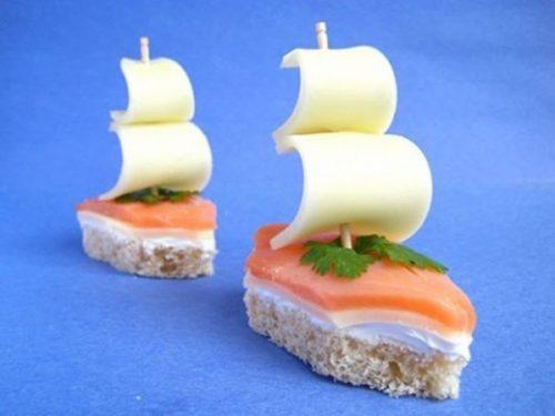 Закуска «Кораблики»