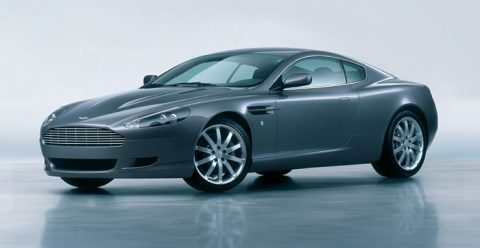 суперкар Aston Martin DB9 серибристый 2004