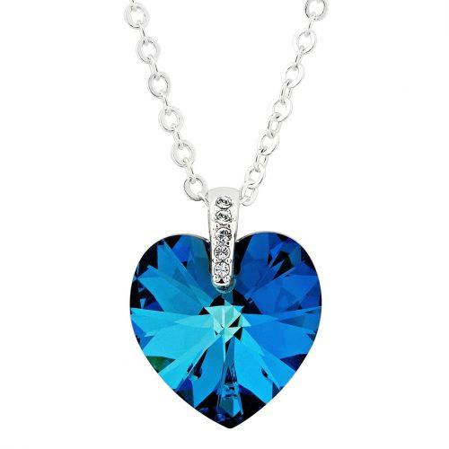 Ожерелье с камнями Сваровски в виде сердца