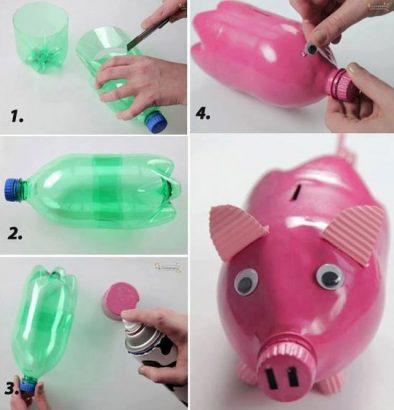 фото копилки в виде свиньи из бутылки
