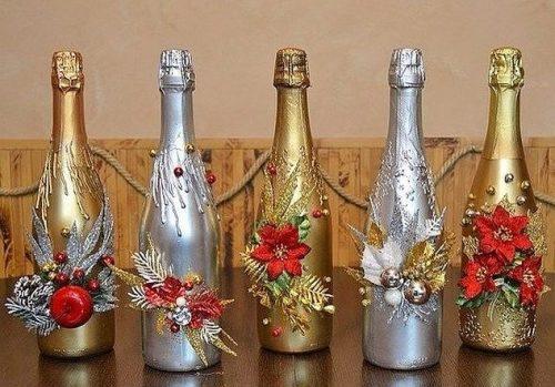 бутылка украшенная лентами