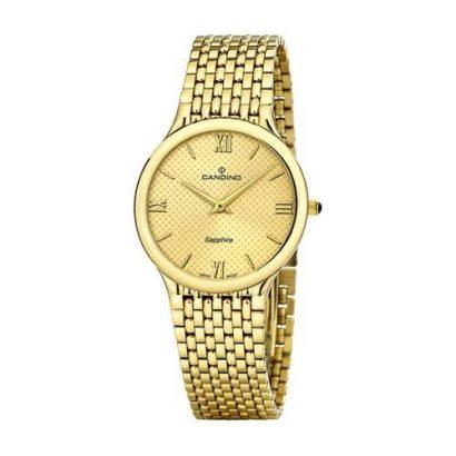 часы candino кварц золотые фото