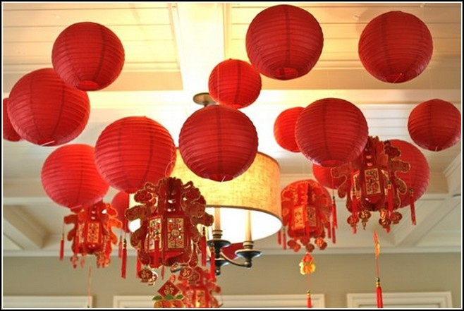 Chinese new year decoration ideas for office home design 2017 - Magnificent new year office decoration ...