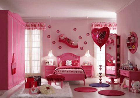 combines-bedroom-ideas-between-hello-kitty-and-valentine-theme-with-pinky-cupboard-and-make-up-table