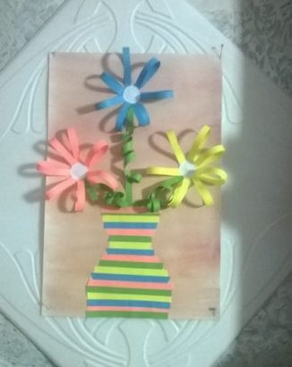 Ваза с цветами для мамы