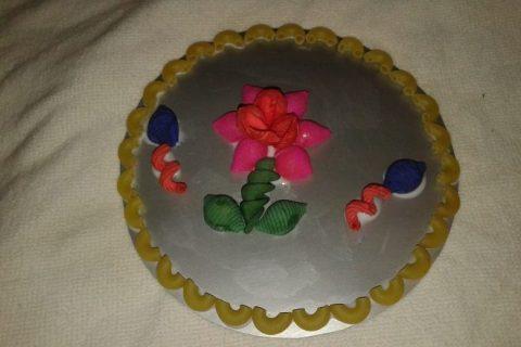 Открытка-панно из макаронных изделий