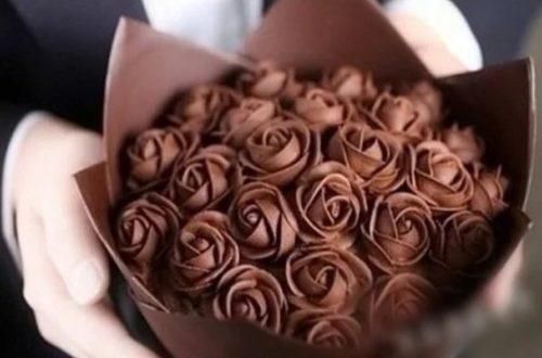 Букет из шоколадных роз